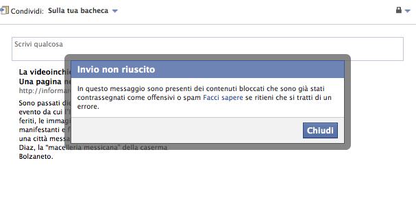 Facebook Informare per resistere