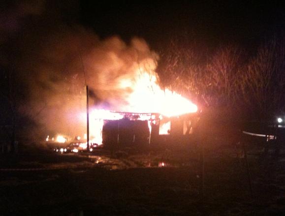 Presidio di Bruzolo in fiamme