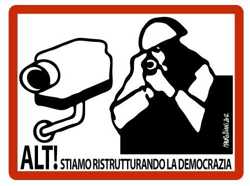 La vignetta di Mauro Biani per Comando e Controllo